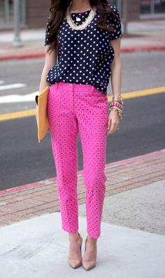 cute bright crop pants