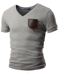 Doublju Mens V-Neck T-shirts with Contrast Pocket GRAY (US-XS) Doublju,http://www.amazon.com/dp/B009USZVDY/ref=cm_sw_r_pi_dp_ofhutb1Z7CKCA5Z2