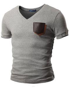 Doublju Mens V-Neck T-shirts with Contrast Pocket GRAY (US-XS) Doublju,http://www.amazon.com/dp/B009USZVDY/ref=cm_sw_r_pi_dp_ofhutb1Z7CKCA5Z2