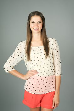 EVERLY: Dot to Dot Top - Tops | The Red Dress Boutique
