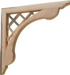 Designer Wood Corbels Brackets for Patio, Porches, & Pergola, 2-Pack, New #SamsGazebos