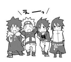 Road to Ninja Menma, Naruto, and Sasuke
