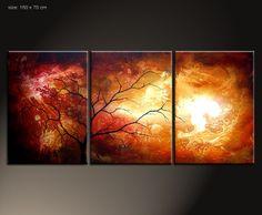 """Künstler:   Paul Sinus   """"sansibar""""  3 parts 50 x 70 cm (160 x 70 cm)    Material:   Acrylfarben, Schlussfirnis   Malgrund:   Das Bild ist bereits fer"""