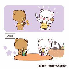 Cute Bear Drawings, Cute Cartoon Drawings, Kawaii Drawings, Cartoon Gifs, Cute Hug, Cute Love Gif, Cute Couple Cartoon, Cute Cartoon Pictures, Walle Y Eva
