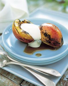 Grilled Nectarines with Honey-Balsamic Glaze recipe