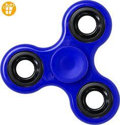 Fidget Spinner Blau ABS Anti Stress Kreisel 1 Edelstahl Kugellager Finger Pocket - Fidget spinner (*Partner-Link)
