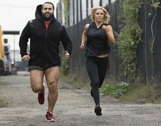 Newly married WWE Superstars Rusev (Miroslav Barnyashev) and Lana (CJ Perry) training hard together for a return to the ring #WWE #TotalDivas #wwecouples