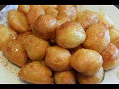 λουκουμάδες νηστίσιμοι τραγανοί κόλπα για ολοστρόγγυλους αφράτους CuzinaGias - YouTube Greek Pastries, Greek Desserts, Pretzel Bites, Kitchen Hacks, Donuts, Sweets, Bread, Vegetables, Recipes