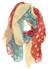 Star Spangled Scarf  Now that's a tongue twister