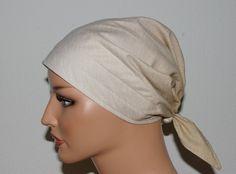 """Kopftücher - Kopftuch """"Ella"""", Farbverlauf Creme-Beige - ein Designerstück von beHUETE-dich bei DaWanda"""