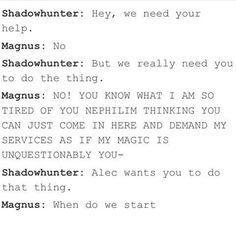 Shadowhunters MALEC