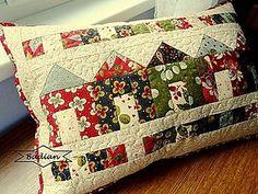 Úžitkový textil - Little Houses ... vankúš - 7181116_