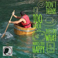 """Disfruta cada cosa que hagas! Por cierto esto NO es a lo que los enólogos llaman """"envejecimiento en barrica"""". Puedo imaginarme que si haces este tipo de ejercicio envejecerás mejor (si no te ahogas). Disfruta la semana!"""