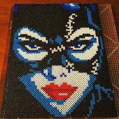 Catwoman perler beads by DntLetMeKnow