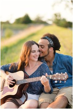 Guitar Engagement Photos | Beautiful Engagement Photo Locations in Virginia | Fort Monroe | Hampton Virginia | Virginia Wedding Photographers | Rowlands Photography