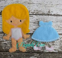 Justice felt doll with dress available in several colors. To purchase visit https://www.etsy.com/shop/SchoolhouseBoutique