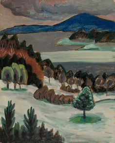 Gabriele Münter: Nordhang II. Staffelsee (1932) via Karl & Faber