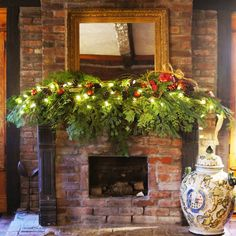 This could be the most simple way to decorate for the holidays but it is elegant in its simplicity.