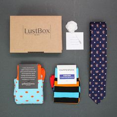 2015 September box - paisley tie by John Harris, socks from Gallant Beau, Socks by Dappersox and pin from Gentlemans Culture.