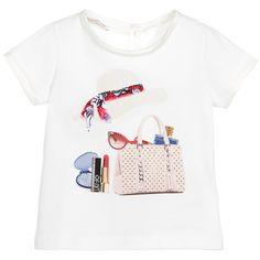 Liu Jo Girls White Sparkling Accessories T-Shirt at Childrensalon.com