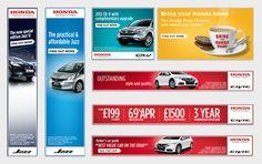 Honda - Banners + E-news by Francisco Rebello, via Behance
