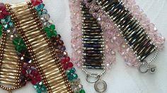 Tutorial Garden Bracelet by Vivatutorial on Etsy Beaded Bracelet Patterns, Beading Patterns, Beaded Bracelets, Beaded Jewelry Designs, Bead Jewellery, Jewelry Making Tutorials, Beading Tutorials, Beads Pictures, African Necklace