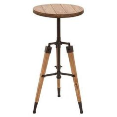 """Bring heirloom-worthy charm to your home with this chic accent, artfully crafted for lasting appeal.Product: Accent tableConstruction Material: Wood and metalColor: NaturalFeatures: Will enhance any décorDimensions: 30"""" H x 14"""" Diameter"""
