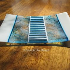 Fused Glass Art Plate. Glass Art by Margot   Square Market…