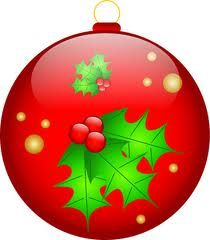 CHRISTMAS BLUE ORNAMENT CLIP ART  CLIP ART  CHRISTMAS 1
