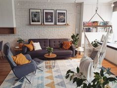 Image may contain: table, living room and indoor - # Living Room Lounge, Home N Decor, Living Room Decor Apartment, Cozy Living Spaces, Home Decor, Living Room Interior, House Interior, Home Deco, Home Interior Design
