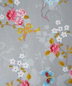 *Eijffinger PIP studio behang Chinese rose zilver - IKenIK.nl