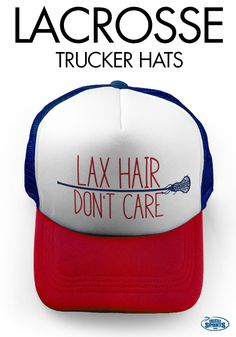 Helmet hair? No problem! Our Lax trucker hats are the perfect solution to after-practice hair or just anytime wear!