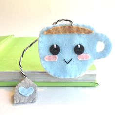 *Cute Blue Cup with Tea Bag, Corner Bookmark* This bookmark is the perfect gift for any book lover and to encourage your child to read! It makes reading more fun than ever and a great way to mark your pages! https://www.etsy.com/shop/FluffedNStuffed