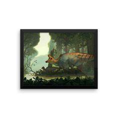 Lambeosaurus framed print