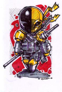 #Deathstroke #Fan #Art. (Deathstroke) By:Dve6. (THE * 5 * STÅR * ÅWARD * OF: * AW YEAH, IT'S MAJOR ÅWESOMENESS!!!™)[THANK U 4 PINNING!!!<·><]<©>ÅÅÅ+(OB4E)