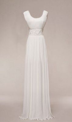 This is a wedding dress, but it would be such a pretty prom dress in a color! Either way, it's gorgeous!