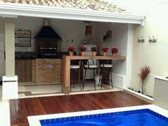 piscinas i ui Moderne Pools, Small Pool Design, Outdoor Kitchen Design, Outdoor Living, Outdoor Decor, Outdoor Spaces, Pool Designs, Home Projects, Sweet Home
