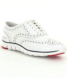 Cole Haan Women´s Zerogrand Perforated Wingtip Sneakers · Shoes WomenWoman  ...