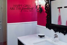 Audrey Hepburn Quote Happy Girls are the by designstudiosigns, $31.00