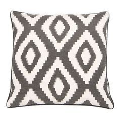 Liven up sofas and armchairs with boldly printed cushions such as this white and grey chevron print cushion from Barker and Stonehouse #homedecor #interiorinspiration