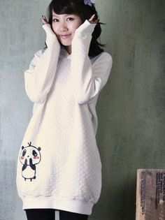 Cute Hooded Panda Top | Would be cute just for lying around my room watching anime or Netflix.