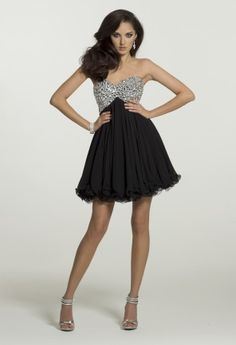 #Homecoming Dresses - Strapless Jeweled Dress from Camille La Vie and Group USA
