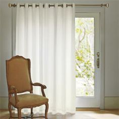 no gaps with this 108 wide grommet top panel perfect for sliders french doors and extrawide windows