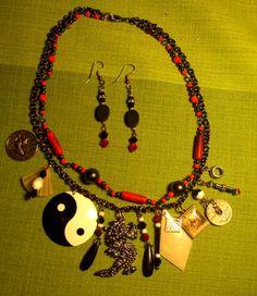 "Punk ""Chunkee"" necklace....Far East theme....designed by Sue Richardson- Desert Mojo Designs (me)"