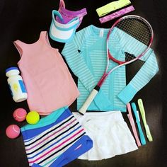 Girls athletic wear to keep her covered and comfortable no matter how she likes to sweat. Pro Tennis, Tennis Gear, Tennis Camp, Dance Outfits, Sport Outfits, Kids Outfits, Tennis Outfits, Athletic Outfits, Athletic Wear