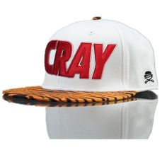 Cayler And Sons C AndS Cray Animal Print Snapback Tiger Print Snapback Cap in White 6690! Only $8.90USD