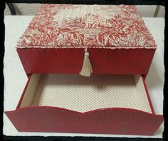 inspiration box with lift top and drawer