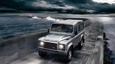 2012 silver land rover defender driving front car wallpapers free