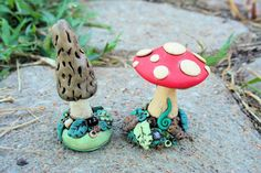 The Earth is our Teacher: Tutorial Thursday - Polymer Fairy Toadstools