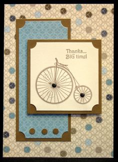 """Thank You Card, Handmade Greeting, Stampin' Up """"Timeless Talk"""" (TY-23)"""